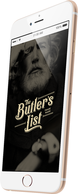 Logos and Brand Identity - The Butlers List on mobile
